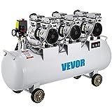 VEVOR Compresseur d'Air sans Huile 2.5 CV Capacité de la Cuve 100 L avec un Niveau de Bruit Modéré de 58 dB Parfaite pour les Besoins en Matière d'Inflation
