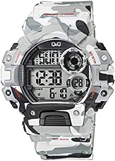 Q&Q Camouflage Sport Men's Digital Dial Resin Band Watch