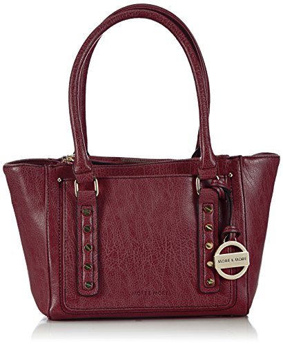 More & More Lucy Offene Tasche 50222 1700 M15 Damen Shopper 34x22x16 cm (B x H x T), Rot (burgundy 1700)