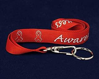Red Ribbon Awareness Lanyard/Badge Holder