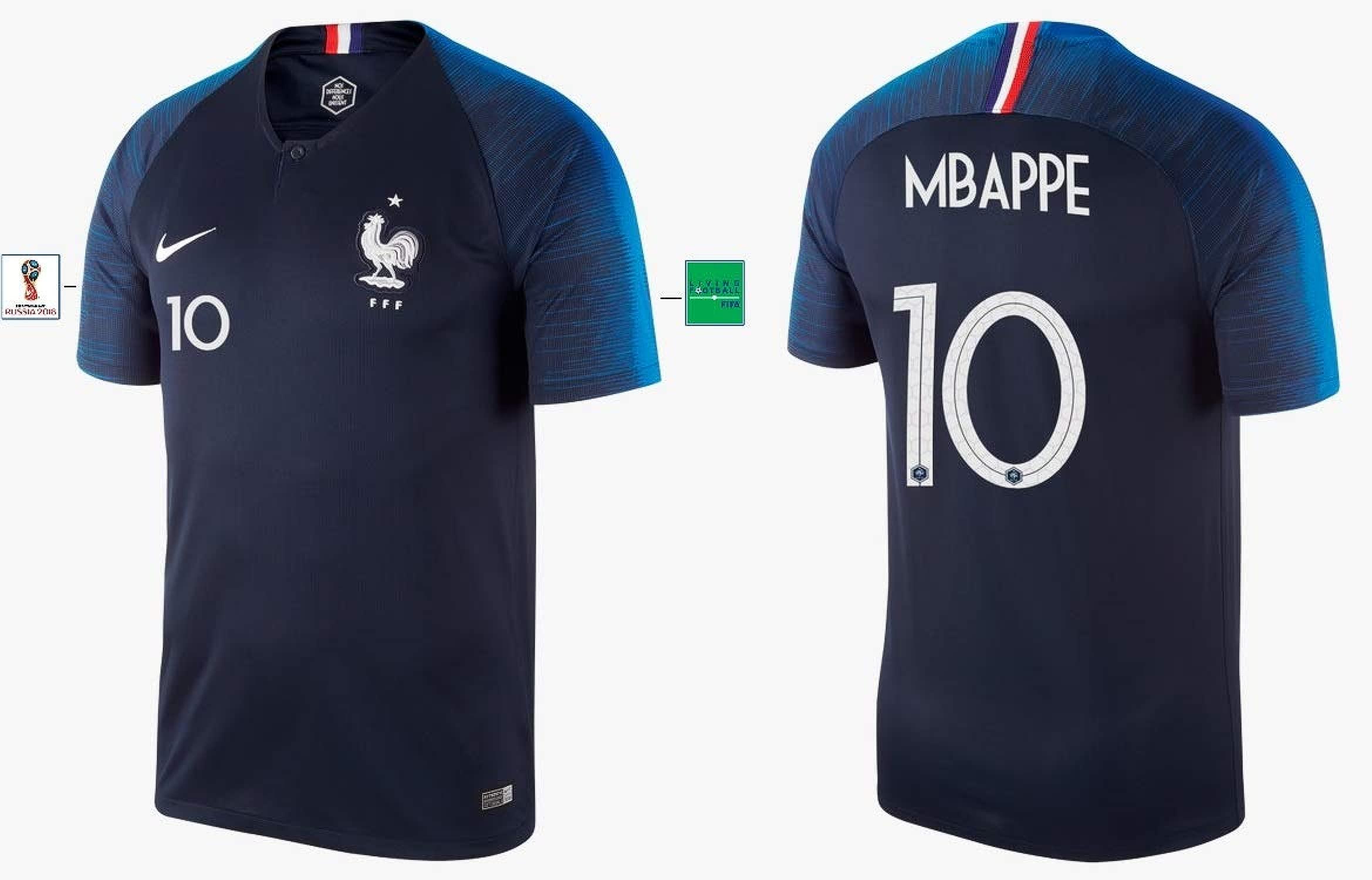 Frankreich Trikot Herren WM 2018 Home - Mbappe 10
