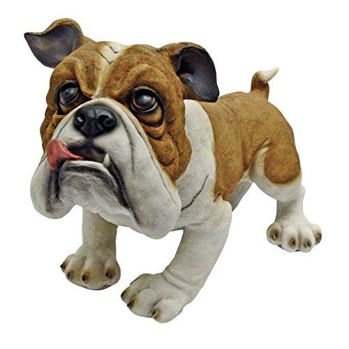 Design Toscano EU1071 Winston the British Bulldog Dog Garden Statue, 11 Inch, Polyresin, Full Color