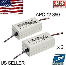 2PCS 350mA Single Output LED Driver - Mean Well LED Power Supply APC-12-350 12Watt