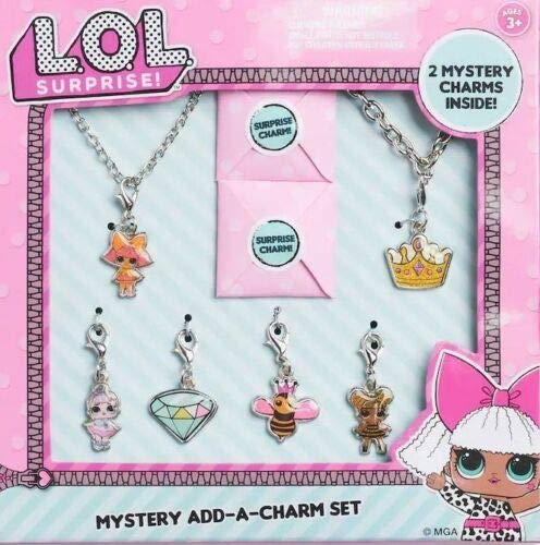 L.O.L Surprise Necklace,Bracelet & 8 Charms Jewelry Gift Set for Girls(+3 Years)
