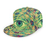 Baseballkappe Trippy Eye Psychedelic Hippie Spiral Circle 3D Printed Adjustable Baseball Caps Unisex Hiphop Snapback Flatbrim Hats Schwarz