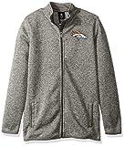 NFL Youth Boys 'Lima' Full Zip Fleece Jacket-Cool Grey-M(10-12), Denver Broncos