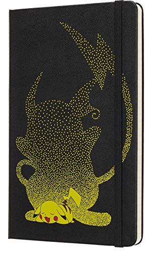 "Moleskine Limited Edition Pokémon Notebook, Hard Cover, Large (5"" x 8.25"") Ruled/Lined, 240 Pages"