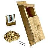 KingWood Cedar Owl House Bird House w/nesting material Owl Box Large Birdhouse Screech Owl House Kit