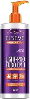 Creme de Limpeza Light Poo Elseve Supreme Control 4D Elseve 400 ml, L'Oréal Paris