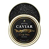 BESTER Premium Russian Osetra Sturgeon Caviar - (1.76 oz (50g)) - Malossol Ossetra Black Roe - Premium Quality, Traditional Style, imported - OVERNIGHT GUARANTEED