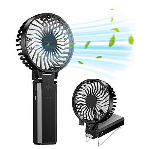 携帯扇風機 Fohil 2020年最新改良 モデルハンディ扇風機 USB充電 手持ち式 5200mAhモバイルバッテリー 6枚羽根 6段風量調節 最大28時間動作 静音 持ち運びに便利 熱中症 暑さ対策 オフィス スポーツ観戦 花火大会 取扱説明書付き PSE認証済
