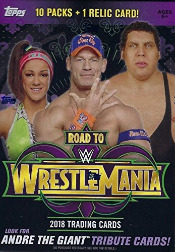 WWE Authentic Wear WWE 2018 Topps Road to WrestleMania Value Box