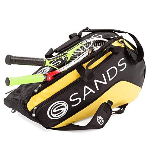 Sands Tennis Schlägertasche Sporttasche für bis zu 6 Schläger