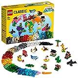 LEGO 11015 Classic Briques créatives « Autour du Monde » Jeu de Construction avec 15 Figurines d'Animaux