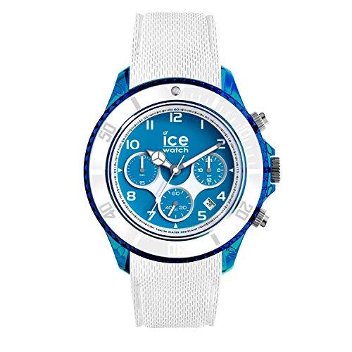 Ice-Watch - ICE dune Superman blue - Weiße Herrenuhr mit Silikonarmband - Chrono - 014224 (Extra large)