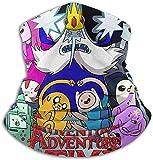KaiXinWei Adventure Time! - Bandana cortavientos y bufanda para la cara y el cuello