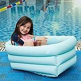 Cakunmik Piscina Inflable, Piscina para niños, Piscina de vadeo, baño Inflable para bebés Bañera amigable para el Medio Ambiente, bañera de bebé Plegable y Conveniente, Piscina