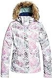 Roxy Junior's Jet Ski Snow Jacket, Bright White Mysterious View, XL