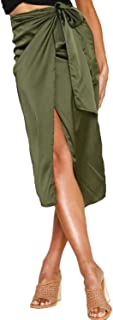 Women's Sexy England Leopard Print Split Bandage Evening Party Skirt Midi Skirt