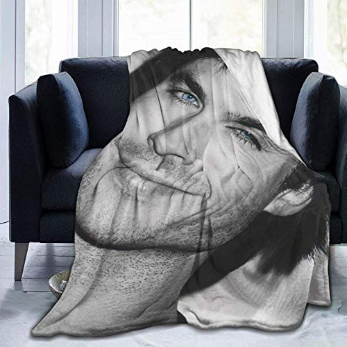 Soft Throw Damon Salvatore The Vam-pire Dia-ries Blanket Fit Sofa- Fluffy Fleece Blanket Super Warm for Couch