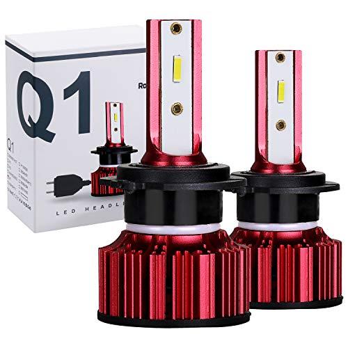 Rovtop 2PCS Ampoule H7 LED Voiture Ampoules IP68 Etanche 10000LM Super Bright 6500K lumière Blanche Ampoules