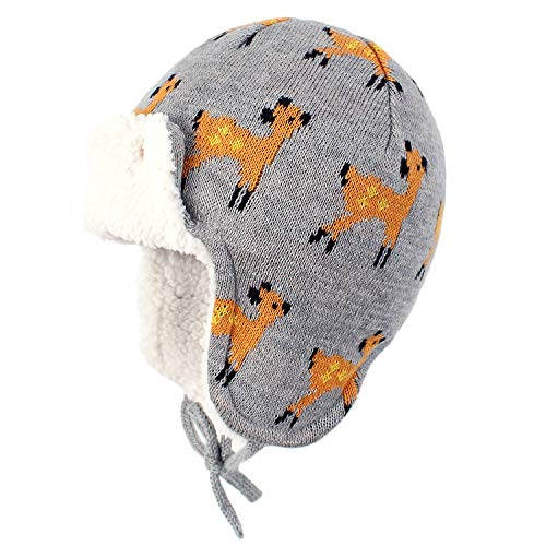 Zando Baby Beanies Infant Toddler Cute Cartoons Hat Baby Boys Earflap Caps Fall Winter Cute Deer M (18.90'-19.69')suggest 1-2T