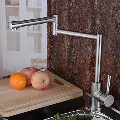 Chaleco UOMUN Grifo Plegable 304 Acero Inoxidable Grifo de Cocina Acero Inoxidable Multifunción Multifunción Cocina Cuenca Faucet 34 cm