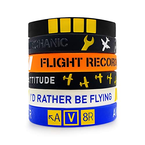 Aviation Gift Wristband Pack - Pilot Aircraft Flying Accessories… (Pilot Pack)
