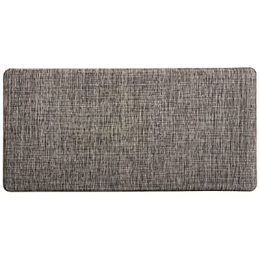 "Rachael Ray Luxprolyn Premium Anti-Fatigue Kitchen Comfort Mat, Woven Gray- 20"" x 39"""
