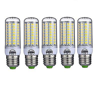WELSUN 8W E26/E27 Ampoules LED T 72 SMD 5730 680LM LM Blanc Chaud/Blanc Froid Décorative AC 100-240 V 5 pièces (Light Source Color : Blanc Chaud)