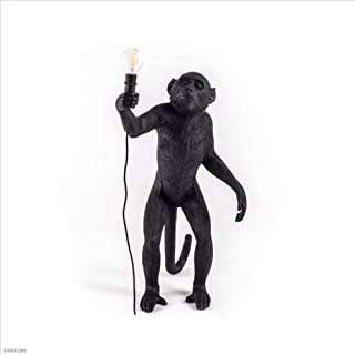 Betty Statues Resin Lamp Monkey Lamp-Outdoor 46X27.5 H.54 cm - On Feet -selettl