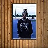 YWOHP Cuadro en Lienzo con impresión de Arte de Pared, decoración del hogar, Pintura de Estrella de música Hip Hop, póster nórdico Modular, Sala de Estar 40x50cm_No_Framed_19