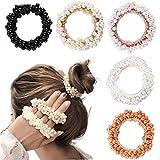 5 Pieces Pearl Elastics Hair Ties Ring Rope Scrunchie Hair Bands...