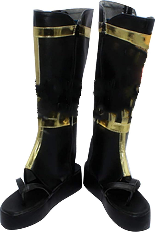 Whirl Cosplay Boots shoes for Touken Ranbu Tsurumaru Kuninaga Black