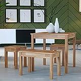 Krok Wood Esstisch Tomas aus Massivholz in Buche (70 x 50 x 75 cm)