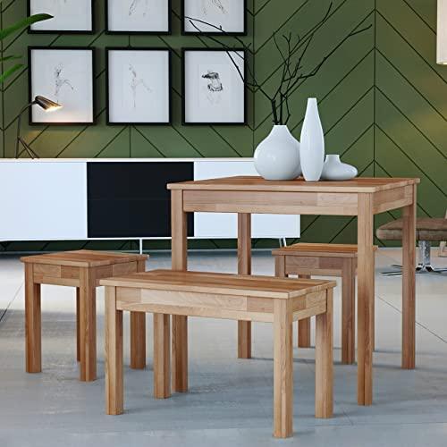 Krok Wood Esstisch Tomas aus Massivholz in Buche (110 x 75 x 75 cm)