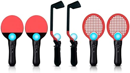 OSTENT 8 in 1 Competition Sports Pack Golf Tennis PingPong Compatible for Sony PS3 PS Move Game