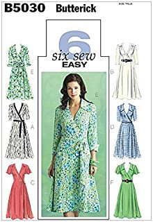 Butterick Ladies Easy Sewing Pattern 5030 Wrap Dresses