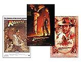 Close Up Indiana Jones Poster 3-er Set Filmplakate (68,5cm