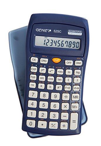 Genie 52 SC technisch-wissenschaftlicher Rechner (136 Funktionen, 10 stelliges Display, Inkl. Schutzdeckel) blau