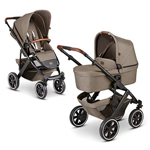 ABC Design 2 in 1 Kinderwagen Salsa 4 Air Fashion Edition – Kombikinderwagen für Neugeborene & Babys – Inkl. Sportsitz Buggy & Babywanne – Radfederung & Luftreifen – Farbe: nature