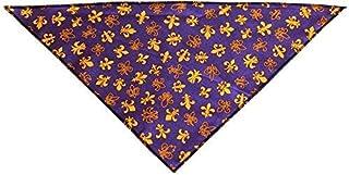 Mardi Gras Fleur de Lis Tie-On Pet Bandana Small