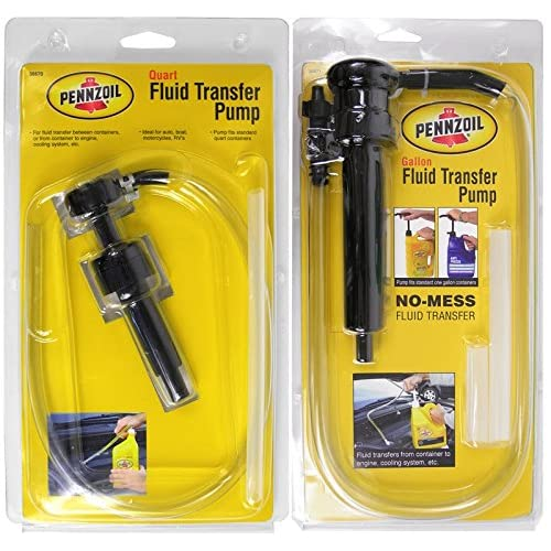 Bundle Set of Pennzoil Quart /& Gallon Fluid Transfer Pumps Car Truck Motorcycle Boat RV