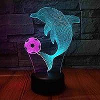 giyiohokフェスティバルゴルフモデリングナイトライト7色変更LED3Dテーブルランプ家の装飾ベッドサイドランプギフト-n21-n2