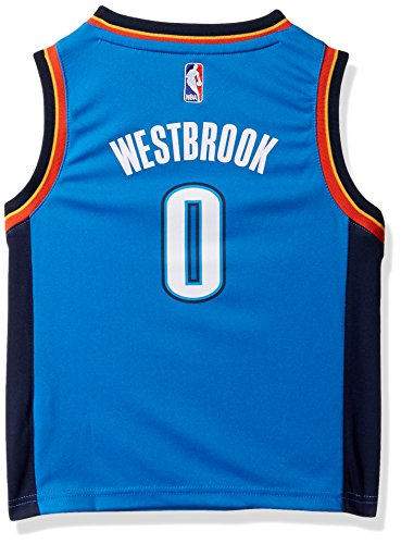Outerstuff NBA Oklahoma City Thunder-Westbrook Kids Replica Player Jersey-Road, Medium(5-6), Bright Royal