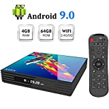 Sidiwen Android 9.0 TV Box A95X R3 Android Box 4GB RAM 64GB ROM RK3318 Quad-Core...