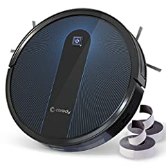 Boost-Intellect Technology: Coredy R650 robot vacuum cleaner is armed with Intelligent-Boost technology, enables automatically increase suction power within seconds when carpet is detected, moves effortlessly from hard-surface floor to carpet, much s...