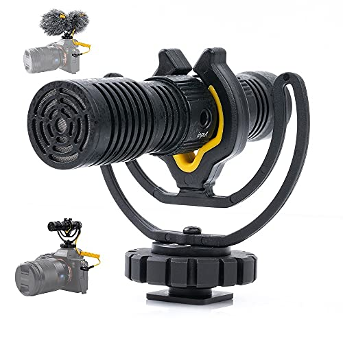 Deity V-Mic D4 Duo Shotgun Microphone,Dual-Capsule Mini Camera-Mount Microphones Dual Mono/Stereo Recording, Plug and Play Mic with Rycote Shockmount for DSLRs, Camcorders, Smartphones