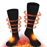 REQUIN Heated Socks for Men and Women, Heated Electric Warm Thermal Boot Socks, Winter Warm Cotton Socks for Outdoor Indoor Camping Fishing Cycling Skiing
