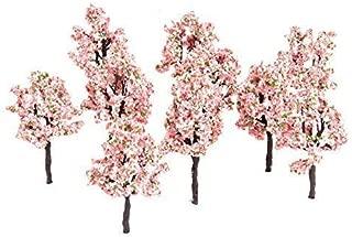 10PCs 11CM Pink Flower Model Tree Railway Train Diorama Garden Scenery Layout Architecture Trees for DIY Landscape
